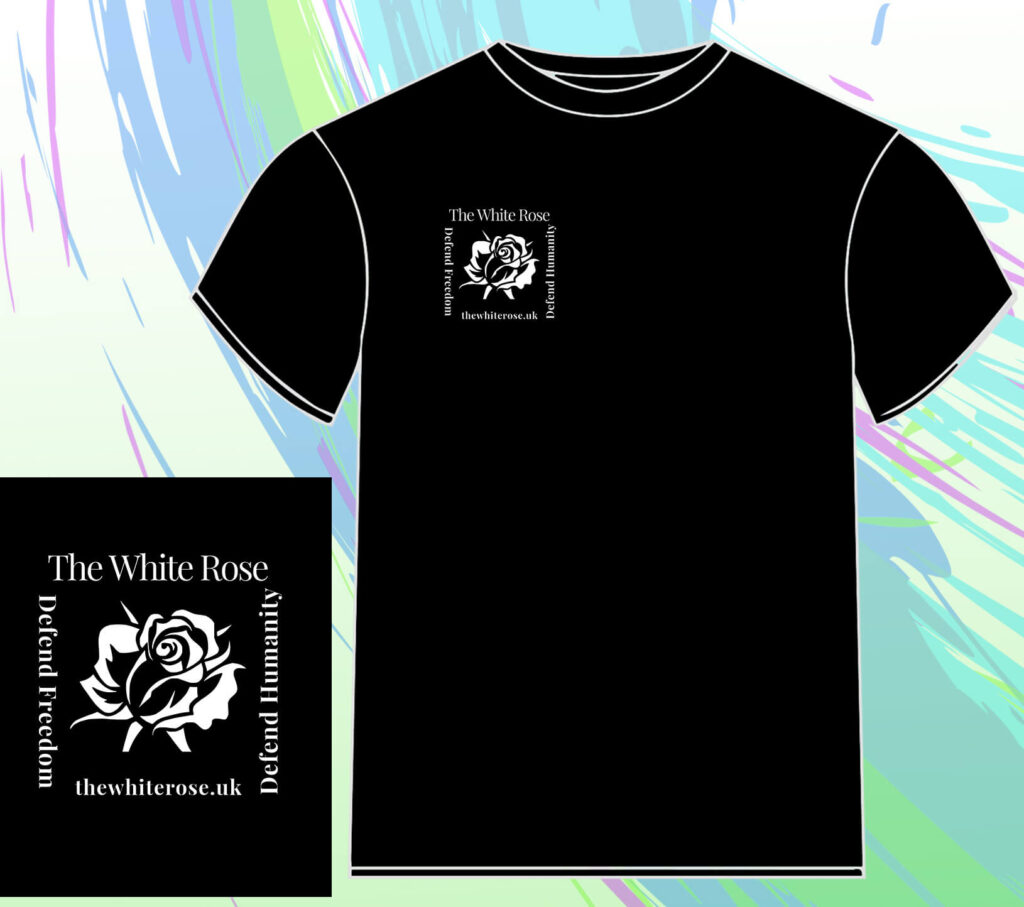 White Rose UK T-Shirt Black